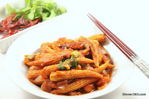Day 256 - Baby Corn in Tomato Sauce