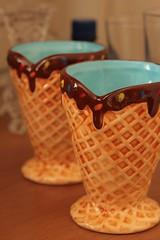 Sorvetinhos.. (Isabella Regis Morais) Tags: blue ice para cream swap troca casquinha louas sorvetes tacinhas