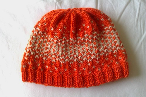 reflection hat(rage) by KnitterinProgress