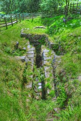 LEAD MINE CLOUGH PUMP HOUSE RUINS, LEAD MINE CLOUGH, ANGLEZARKE, LANCASHIRE,ENGLAND (ZACERIN) Tags: mine reservoir lancashire rivington waterfalls yarrow lead clough anglezarke lead reservoir brook waterfalls limestone clough yarrow