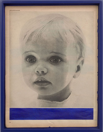 Elad Lassry, Portrait, Navy Blue, 2008