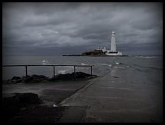 To The Lighthouse (Ronald Hackston) Tags: uk england lighthouse northumberland northsea stmary seatonsluice curryspoint ronniehackston