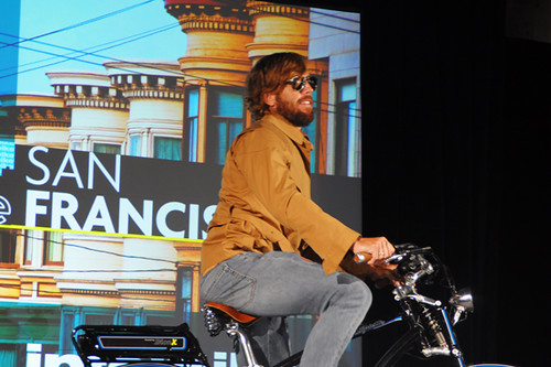 Interbike Fashion Show, Will of Boxcycles on E-Bike