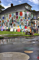 New White House/Dotty Wotty ( The Heidelberg Project - Tyree Guyton ) (DetroitDerek Photography ( ALL RIGHTS RESERVED )) Tags: usa house art love home america canon circle rebel book paint artist outdoor michigan unity whitehouse detroit exhibit september polkadots birthplace recycle 1986 hdr allrightsreserved reuse motown tyree 2011 guyton tyreeguyton theheidelbergproject t2i connectingthedots dottywotty newwhitehouse jenennewhitfield magictrash
