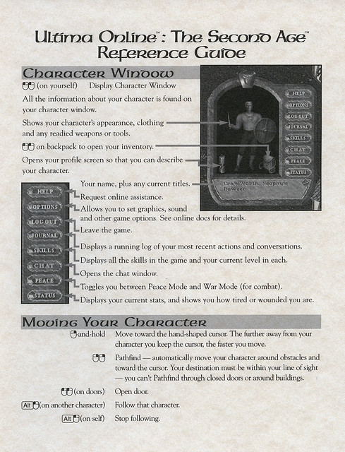 Ultima Online: The Second Age: Player Reference #1
