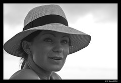 My Beautiful Wife (AlpineEdge) Tags: trip vacation portrait woman hot beach face look hat clouds mouth person eyes honeymoon married gorgeous beachlife kristen barbados wife features wifey bathingsuit strawhat beautifulgirl cranebeach lifeonthebeach
