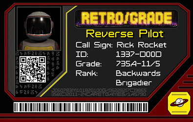 PAX 2011 Retro/Grade ID card