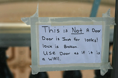 This Is NOT a Door. Door is just for looks! Lock is broken. Use door as it if is a wall.