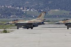 Heating the heat (Alvaro Aviation) Tags: israel fighter aviation jet camo planes barak militaryaviation openday lockheedmartin iaf israelairforce 391 383 indepenceday jetwash ramatdavid ef300mmf28lisusm llrd canon5dmarkii 110sq ef14xextenderiii ramatdavidiafb f16c30cf