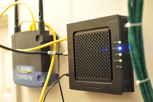 Mounted Router & Modem