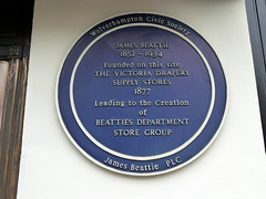 Photo of James Beattie blue plaque