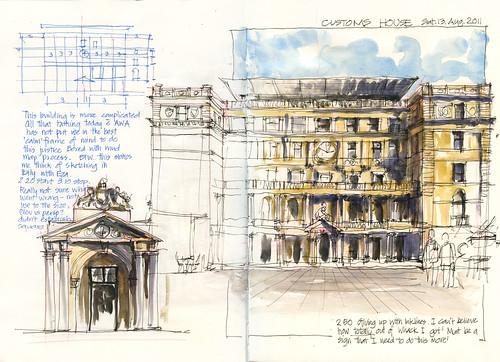 110813_3 Customs House (A4 sketchbook)