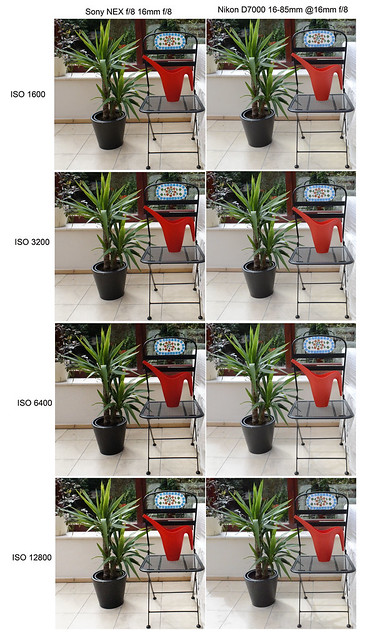 Sony NEX-C3 16mm f/2.8 Nikon D7000 16-85mm