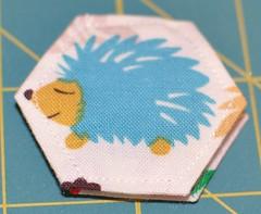 hexie needle book - hedgehog