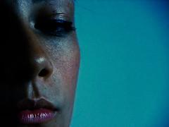 la notte ci rende migliori (ldc_86) Tags: blue portrait girl nose eyes lips