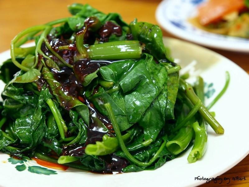 平溪.地瓜拉麵:有機燙青菜