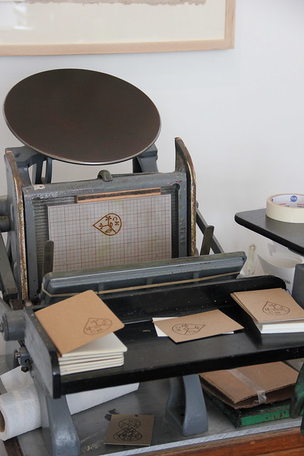 letterpress printing at Bookhou's