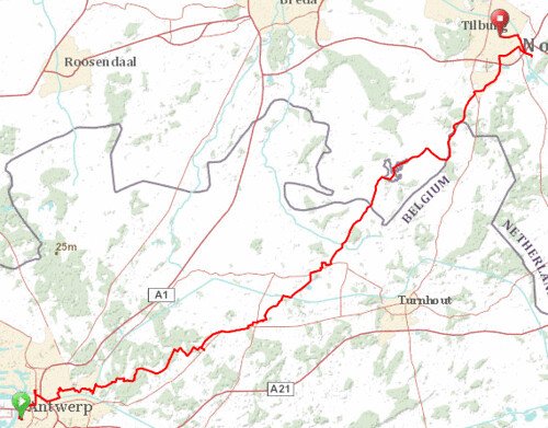 Beer cycling map