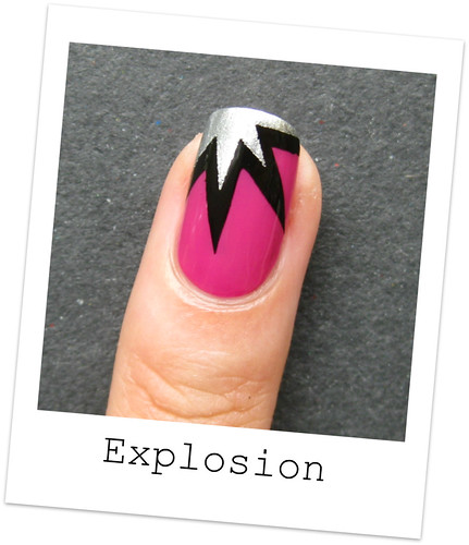 Nail Designs Using Tape: Nailside: Tutorial: Explosion Design Tape Mani