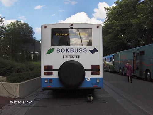 Bokbussen i Buskerud var også der by buskfyb