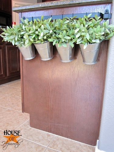Hang an IKEA kitchen rail on the side of your counter for the cutest plant display. Such an easy and fun IKEA hack. Tutorial at www.houseofhepworths.com