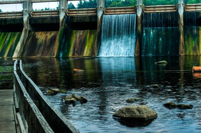 Huron river dam spillway