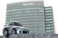NISSAN GLOBAL HQ (tomosang R32m) Tags: japan skyline nissan yokohama kanagawa 横浜 gtr r32 神奈川 スカイライン choroq 日産 チョロq 本社