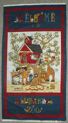 Alphabet Zoo fabric panel