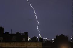 (pexy) Tags: city nyc newyorkcity longexposure sky newyork storm brooklyn buildings photography manhattan stock gothamist lightning 200mm 2011 pexy davidpexton