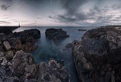 Rocks (P8202461) (Mel Stephens) Tags: uk longexposure panorama night geotagged evening scotland long exposure harbour panoramic structure best coastal aberdeen le nd gps favourite stitched hdr ptgui 2011 cixpix aberdonia