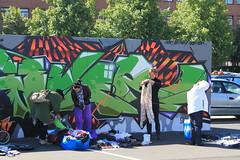 Billede 053 (Paradiso's) Tags: art wall copenhagen graffiti market kunst flea paradiso kbenhavn muur kunstwerk vlooienmarkt plads rommelmarkt valby loppemarked vg artinthemaking kunstevent toftegrds kulturhusvalby
