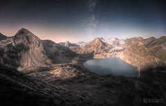 ~ Gries lake and glacier: moonrise ~ (dmkdmkdmk) Tags: lake mountains alps nature landscape switzerland nikon swiss pass glacier hdr gries nufenen d700 nufenenstock griesseegriessgletschernufenenpassgriesspassnufenenstockmil griesseegriessgletschernufenenpassgriesspassnufenenstockmilchstrasse