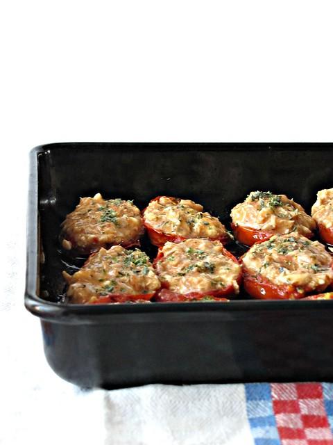Pomodori Confits Ripieni di Rillettes di Sgombro (3)