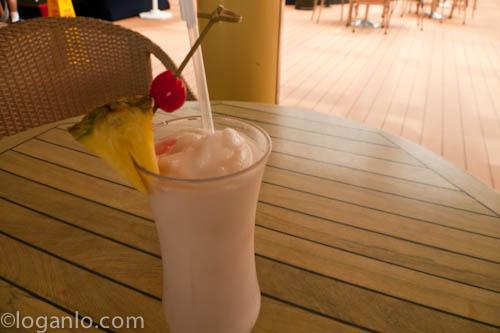 Piña colada in Bermuda