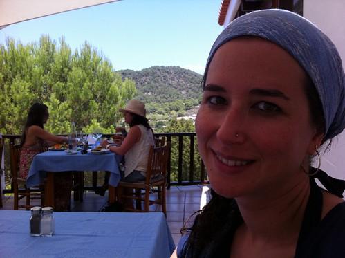 Mary Jo en el restaurante S'Espartar