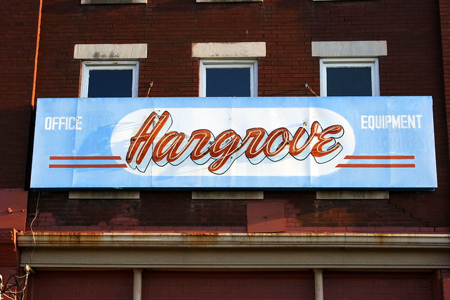Hargrove Office Equipment neon sign