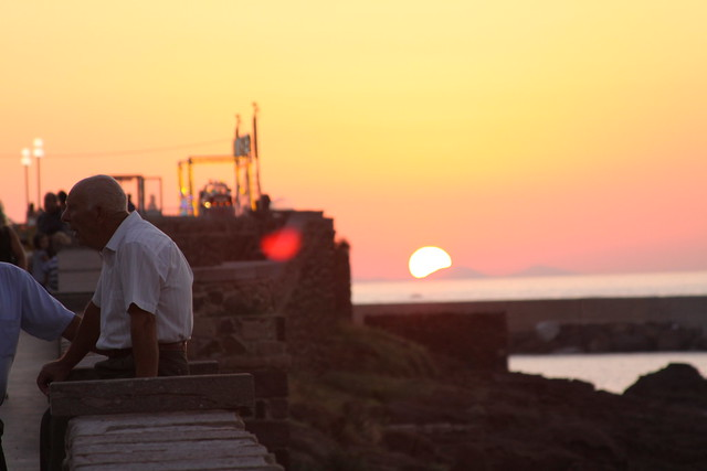 The Man & The Sunset. Castelsardo.