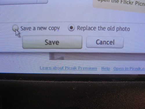 You can replace the old photo or make a new copy