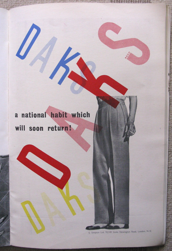 DAKS advert, issued by Simpson's of London - 1947