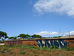 Honolulu Graffiti, 2011 (HiZmiester) Tags: street urban streetart art graffiti hawaii ic hp oahu artsy vandalism honolulu tagging doa merk slang merck merk2 merck2