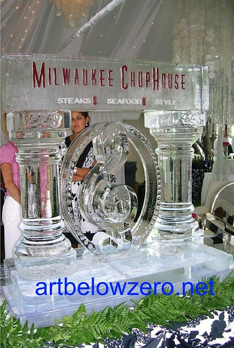 Milwaukee Chop House ice sculpture