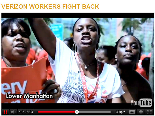 Verizon Workers Fight Back Video
