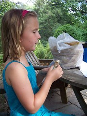 C6 making corn husk doll