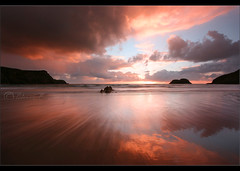 Traeth Llyfn... (Chrisconphoto) Tags: sunset seascape heritage southwales wales coast pembrokeshire goodlight