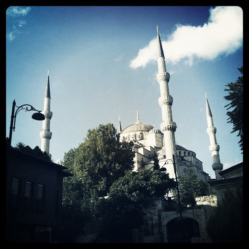 Reaching the mosquee #istanbul
