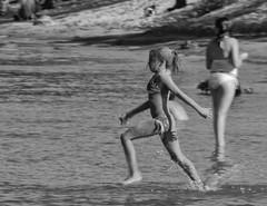 D7K 6959 ep (Eric.Parker) Tags: camping blackandwhite bw ontario monochrome swimming bikini africanamerican lakeontario sanddune bathingsuit sandbanks quinte sandbanksprovincialpark princeedwardcounty quintesisle