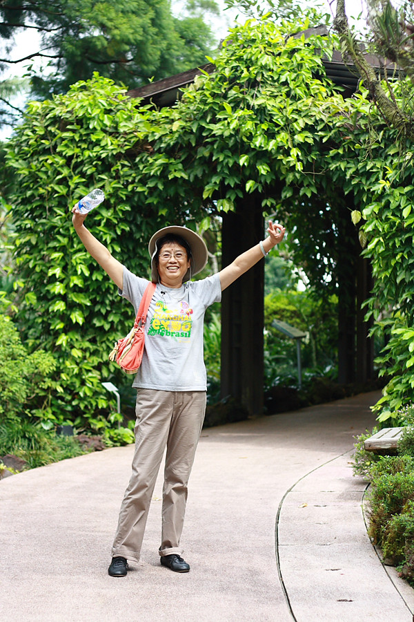 My Aunt at Singapore's Botanic Gardens
