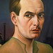 Christian Schad, Self-Portrait with detail of artist
