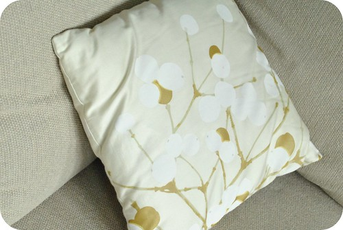 pillow made from marimekko fabric