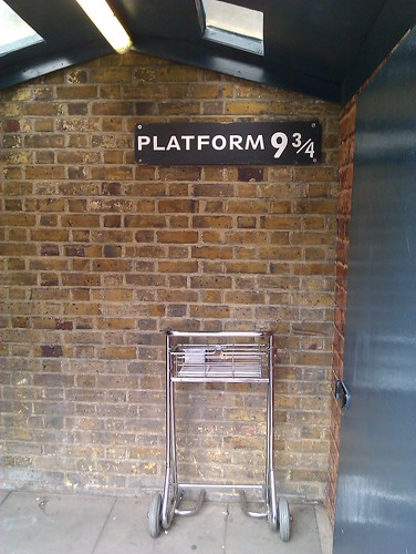 Hogwarts express platform at King's Cross